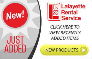 Featured rental items at Lafayette Rental Service serving Lafayette LA, Sunset, Henderson, New Iberia, Abbeville, Crowley LA