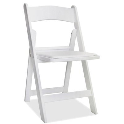 Where to find CHAIR - White w  Padded Seat in Lafayette
