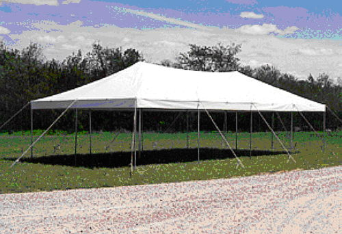 Where to find TENT 20  x 30  White Pole Type in Lafayette